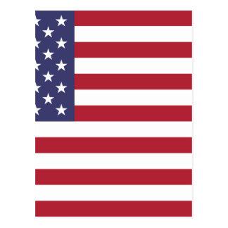 Flagge der Vereinigten Staaten Postkarte