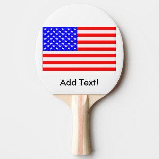 Flagge der Vereinigten Staaten Tischtennis Schläger
