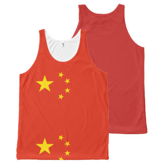 Flagge der Volksrepublik China - 中华人民共和国国旗 Komplett Bedrucktes Tanktop