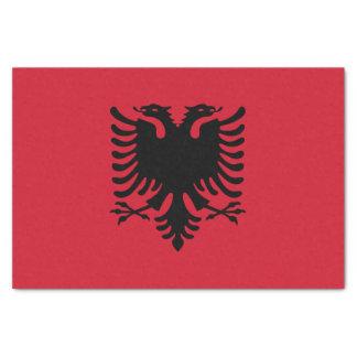 Flagge des Albanien-Seidenpapiers Seidenpapier