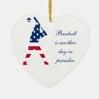 Flagge des Amerika-Baseball-Amerikaners Keramik Ornament