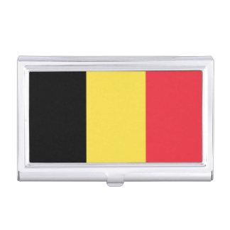 Flagge des Belgien-Visitenkarte-Halters Visitenkarten-Schatullen