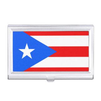 Flagge des Puerto- RicoVisitenkarte-Halters Visitenkarten-Dose