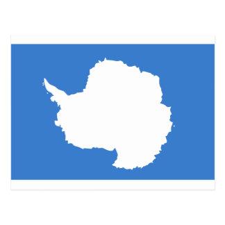 Flagge die Antarktis Graham Bartram Postkarte