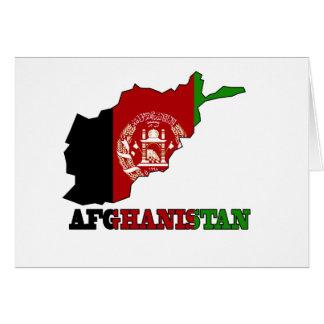 Flagge in der Karte von Afghanistan