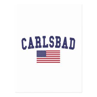Flagge Karlsbads US Postkarte