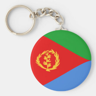 Flagge Keychain Eritreas Fisheye Standard Runder Schlüsselanhänger
