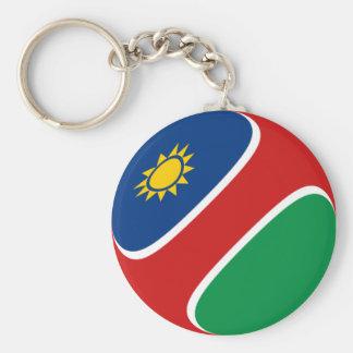 Flagge Keychain Namibias Fisheye Schlüsselanhänger