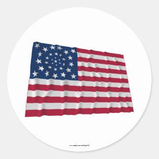 Flagge mit 34 Sternen, Kranzmuster, Außenseiter Aufkleber