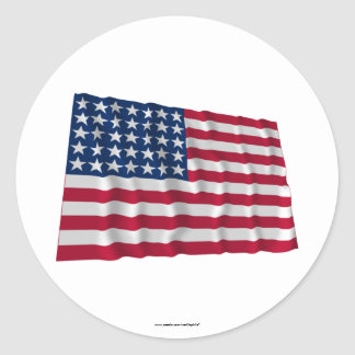 Flagge mit 35 Sternen Runder Aufkleber