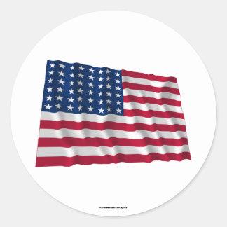 Flagge mit 48 Sternen Runder Aufkleber