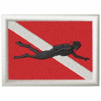 Flagge mit Taucher Sportjacke