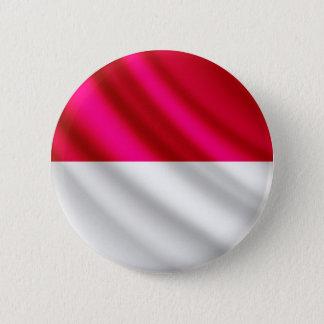 Flagge Monacos wellenartig bewegender pinback Runder Button 5,7 Cm