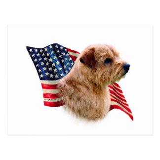 Flagge Norfolks Terrier Postkarte