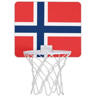 Flagge Norwegendes minibasketball-Ziels Mini Basketball Ringe