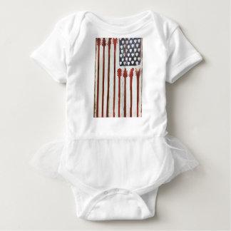 Flagge-patriotisches Gitarren-Musikthema Babybody
