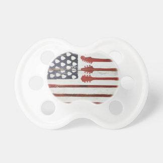 Flagge-patriotisches Gitarren-Musikthema Schnuller