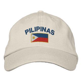 Flagge Philippinen Pilipinas Besticktes Baseballcap