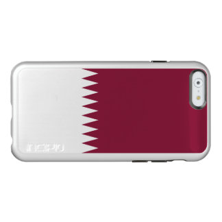 Flagge Qatar silbernen iPhone Falles Incipio Feather® Shine iPhone 6 Hülle