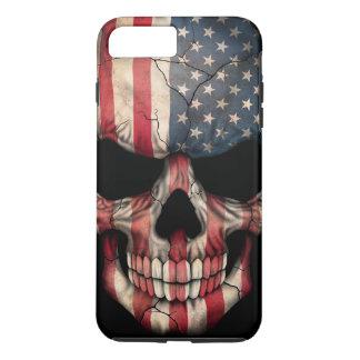 Flagge-Schädel auf Schwarzem iPhone 7 Plus Hülle