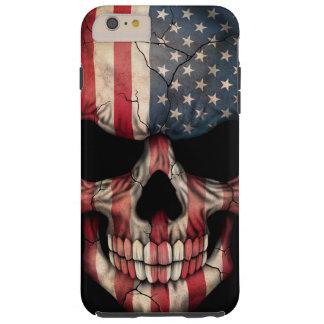 Flagge-Schädel auf Schwarzem Tough iPhone 6 Plus Hülle
