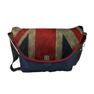 Flagge Schmutz-Union Jacks Briten Kurier Tasche