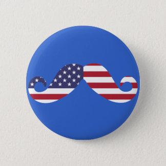 Flagge-Schnurrbart Runder Button 5,7 Cm