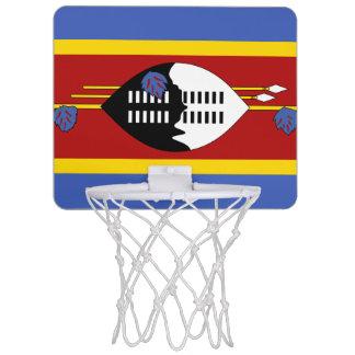 Flagge Swasilanddes minibasketball-Ziels Mini Basketball Ringe
