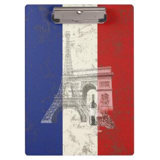 Flagge und Symbole von Frankreich ID156 Klemmbrett
