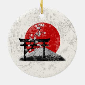 Flagge und Symbole von Japan ID153 Keramik Ornament