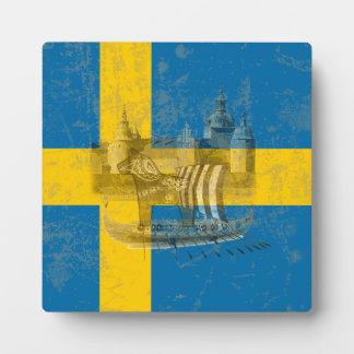 Flagge und Symbole von Schweden ID159 Fotoplatte