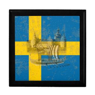 Flagge und Symbole von Schweden ID159 Geschenkbox