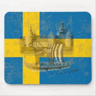 Flagge und Symbole von Schweden ID159 Mauspads