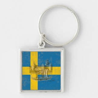 Flagge und Symbole von Schweden ID159 Schlüsselanhänger