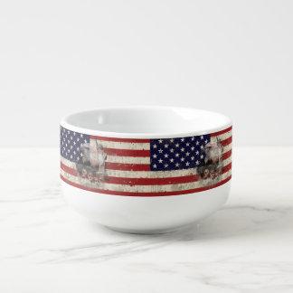 Flagge und Symbole von Vereinigten Staaten Große Suppentasse