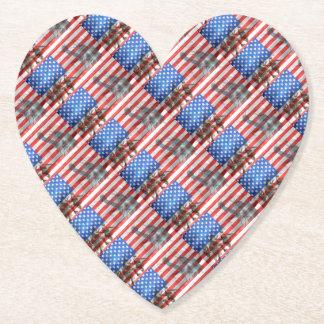 Flagge USA-Veteran personifizieren der Untersetzer