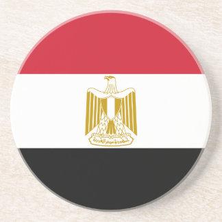Flagge von Ägypten - علممصر - ägyptische Flagge Sandstein Untersetzer