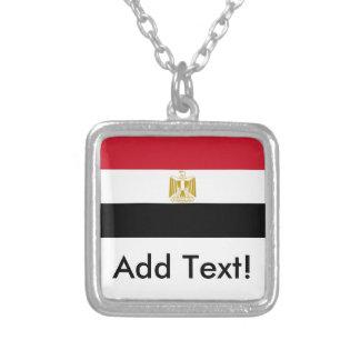 Flagge von Ägypten Versilberte Kette