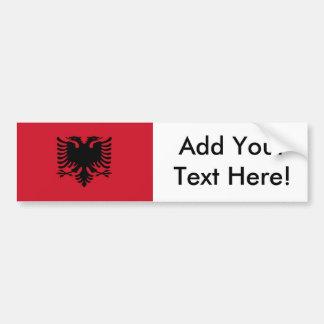 Flagge von Albanien Autoaufkleber