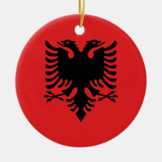 Flagge von Albanien - Flamuri I Shqipërisë Keramik Ornament