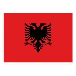 Flagge von Albanien - Flamuri I Shqipërisë Postkarten