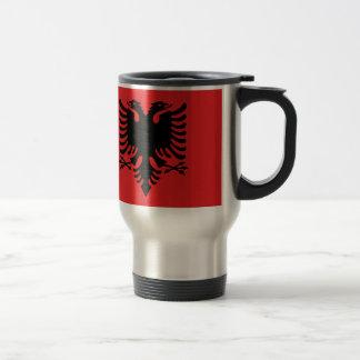 Flagge von Albanien - Flamuri I Shqipërisë Reisebecher