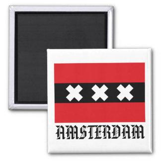 Flagge von Amsterdam Magnets