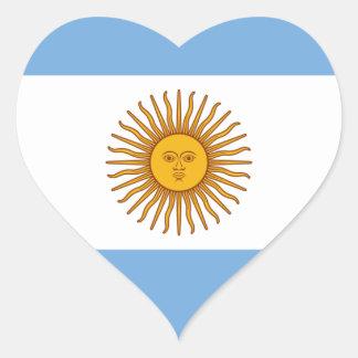 Flagge von Argentinien- - Banderade Argentinien Herz-Aufkleber