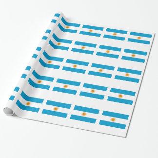 Flagge von Argentinien Geschenkpapier