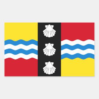 Flagge von Bedfordshire Rechteckiger Aufkleber