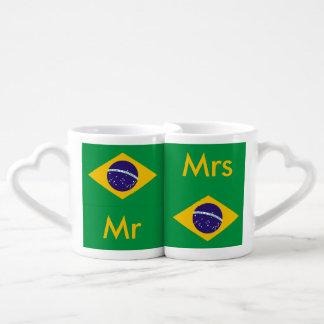 Flagge von Brasilien Bandeira tun Brasilien Liebestassen