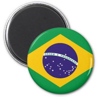 Flagge von Brasilien Bandeira tun Brasilien Runder Magnet 5,7 Cm