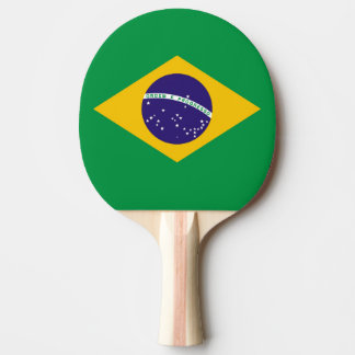 Flagge von Brasilien Bandeira tun Brasilien Tischtennis Schläger
