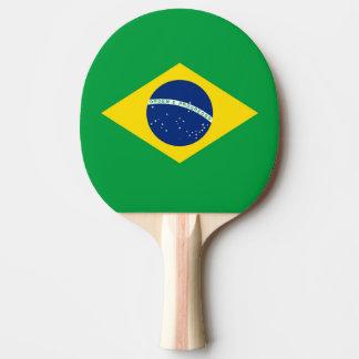 Flagge von Brasilien-Klingeln Pong Paddel Tischtennis Schläger